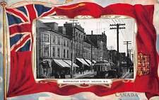 HALIFAX, NOVA SCOTIA, CANADA, BARRINGTON STREET, TROLLEY, FLAG BORDER c 1904-14