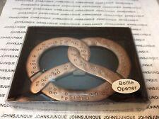 PRETZEL SHAPE  BOTTLE OPENER NEW IN WINDOW GIFT BOX GREAT GIFT!