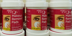 andrea oil free makeup remover pads (3 pack)