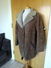 Ladies Vintage Sheepskin Coat Size 14 16 Camel