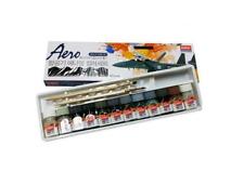 ACADEMY  AERO ENAMEL 12 COLOR SET + 2 BRUSH MODEL KIT paint Military