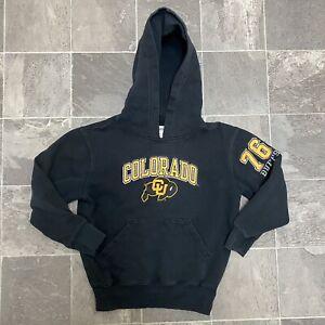 Boys Vintage Champion CU Colorado Buffaloes Doulbe Sided Sweatshirt Sz M Black