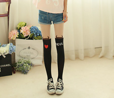 Cute Sexy Tattoo Tights Women Heart & Devil Tattoo Jacquard Pantyhose Tights