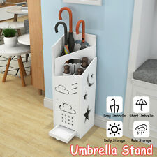 Carve White Square Umbrella Stand Storage Holder Home Walking Stick Long & short