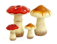 Keramik Pilz zur Wahl Herbst Eisen Pilze Garten Wald Dekoration Garten Figur