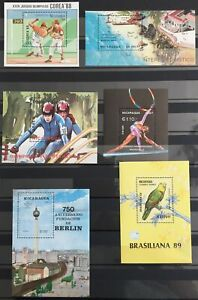 Nicaragua Sport Baseball Birds Berlin Sheets MNH x 6(La52