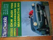 $$$ Revue L'automobile N°238 DKW Audi 1700Monte-CarloMaserati 4L 100McLarn
