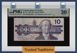 TT PK BC-57a 1989 CANADA BANK OF CANADA 10 DOLLARS PMG 30 EPQ VERY FINE!