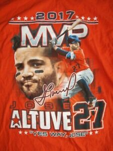"2017 JOSE ALTUVE No. 27 HOUSTON ASTROS ""Yes Way, Jose"" (LG) T-Shirt"