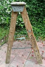 Early 1900's TOPPING Folding Ladder Stool-Old Plant Stand-Marion New York-32.5In