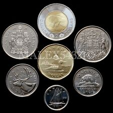 🇨🇦​CANADA 2021 COMPLETE COIN SET 5 CENTS TO 2 DOLLARS UNCIRCULATED (7 COINS)