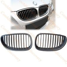 Carbon Look Front Kidney Grilles Grill For BMW E60 E61 5Series M5 2003-2009