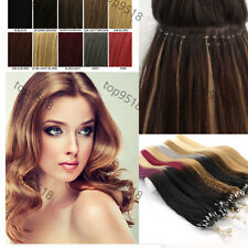 """16~26"""" Micro Ring Beads Easy Loop Ombre Remy Real Human Hair Extensions 1g/s"""