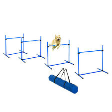 Adjustable Dog Training Agility Jump Bar w/ Carrying Bag - Set of 4 Jumps