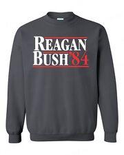 REAGAN BUSH `84 political CREWNECK funny 80's retro Republican sweatshirt