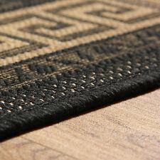 Oriental Weavers Greek Flatweave Rug Runner Modern Anti Slip 100 Polypropylene Black 160 X 225 Cm
