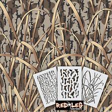 Redleg Camo DG9 - 3 Piece Camouflage stencil kit  **18x26** duck boat wall
