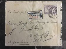 1918 Mexico City Mexico Censored Cover To Buenos Aires Via New York