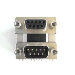 Doppio Connettore DB9 9pin maschio femmina da circuito stampato