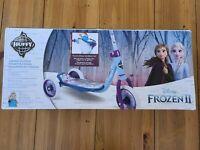 Huffy Disney Frozen 2 Kids Toddler Preschool 3 Wheel Kick Scooter with Basket