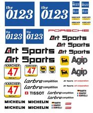 #47 Art Sports Porsche 911 GT2 JGTC 1995 1/64th HO Scale Slot Car Decals