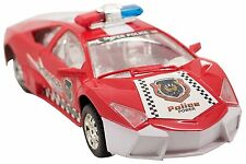 Red Police Lambo Luxury Stealth Police Race Car Realistic Sounds Flashing Lights
