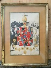 Nr. 240  Wappen auf Büttenpapier  Aquarell Heraldik  Elenora von Mantua