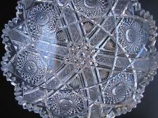 VTG Star of David American Brilliant Cut Crystal Bowl