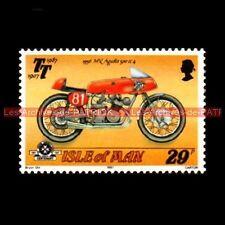 MV AGUSTA 500 /4 Isle of MAN 1956 : Timbre Poste Moto Stamp Stempel Sello