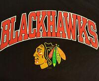 Chicago Blackhawks Logo T Shirt Large EUC Hockey NHL Champions Stanley INV1735