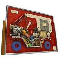 """Vintage FOLK/OUTSIDER ART COLLAGE """"John's Car"""" by JULES ORIGINALS c.1972 Signed!"""