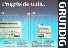 PUBLICITE ADVERTISING 027  1980   Grundig (2p)  chaine hi-fi tuner MT100 FM