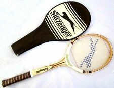 Brand New Very Rare Vintage Slazenger Challenge 100 Wooden Tennis Raquet & Cover
