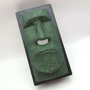 Rotary Hero Tissue Box Holder Cover Tiki Moai Head Faux Stone Face Easter Island