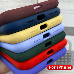 14 Color Liquid Silicone Back Case Hybrid Rubber Cover For iPhone 12 5.4 6.1 6.7