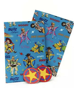 Kids Birthday Wrapping Paper - Toy Story Wrapping Paper - 2 Sheets 2 Tags