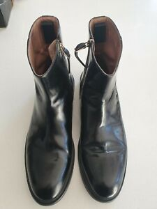 Paul Smith black leather boots 9