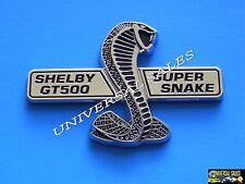 SHELBY GT500 SUPER SNAKE COBRA MUSTANG EMBLEM BADGE GRILLE FRONT CHROME NEW BOLT
