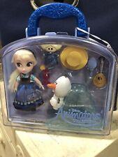Disney Store Animators' Frozen Ice Queen Elsa & Olaf Mini Doll Figure Playset
