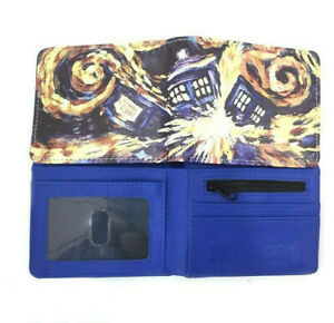 Doctor Who Wallet Purse Mens Kids Tardis Timelord ABC BBC TV Series Movie Gift
