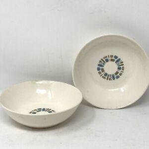 "Vintage Canonsburg TEMPORAMA Atomic Cereal Bowls 6"" Mid Century Mod Lot 2"