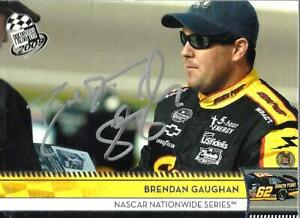 BRENDAN GAUGHAN  -  Autographed [c9]  2009 Press Pass  Card #161