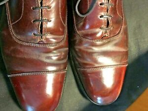 BROOKS BROTHERS PEAL & CO. Cordovan Leather Cap Toe Oxfords Dress Shoes  8.5D