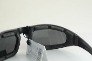 WHOLESALE LOT BLACK FRAME/SMOKE LEN VertX Premium FOAM PADDED SUNGLASS 55016 A**