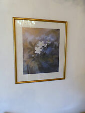 """Aquarell """"Blumen"""" - Kunstdruck signiert von Hildegard Wagner-Harms"""