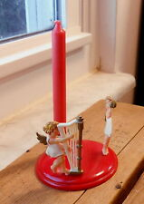 West Germany Hard Plastic Angels Candle Holder