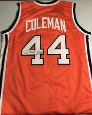 Derrick Coleman #44 Syracuse Sewn Stitched Autographed Custom Orange Jersey JSA
