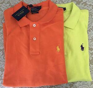 NWT Ralph Lauren Classic fit T-shirt women papaya orange neon yellow $89.5