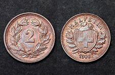 2 Rappen 1900 B Suisse. Bronze. SUP. Cote en SUP: 40 CHF