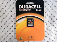 Duracell Secure Digital HC 8GB Card New in Package 2014